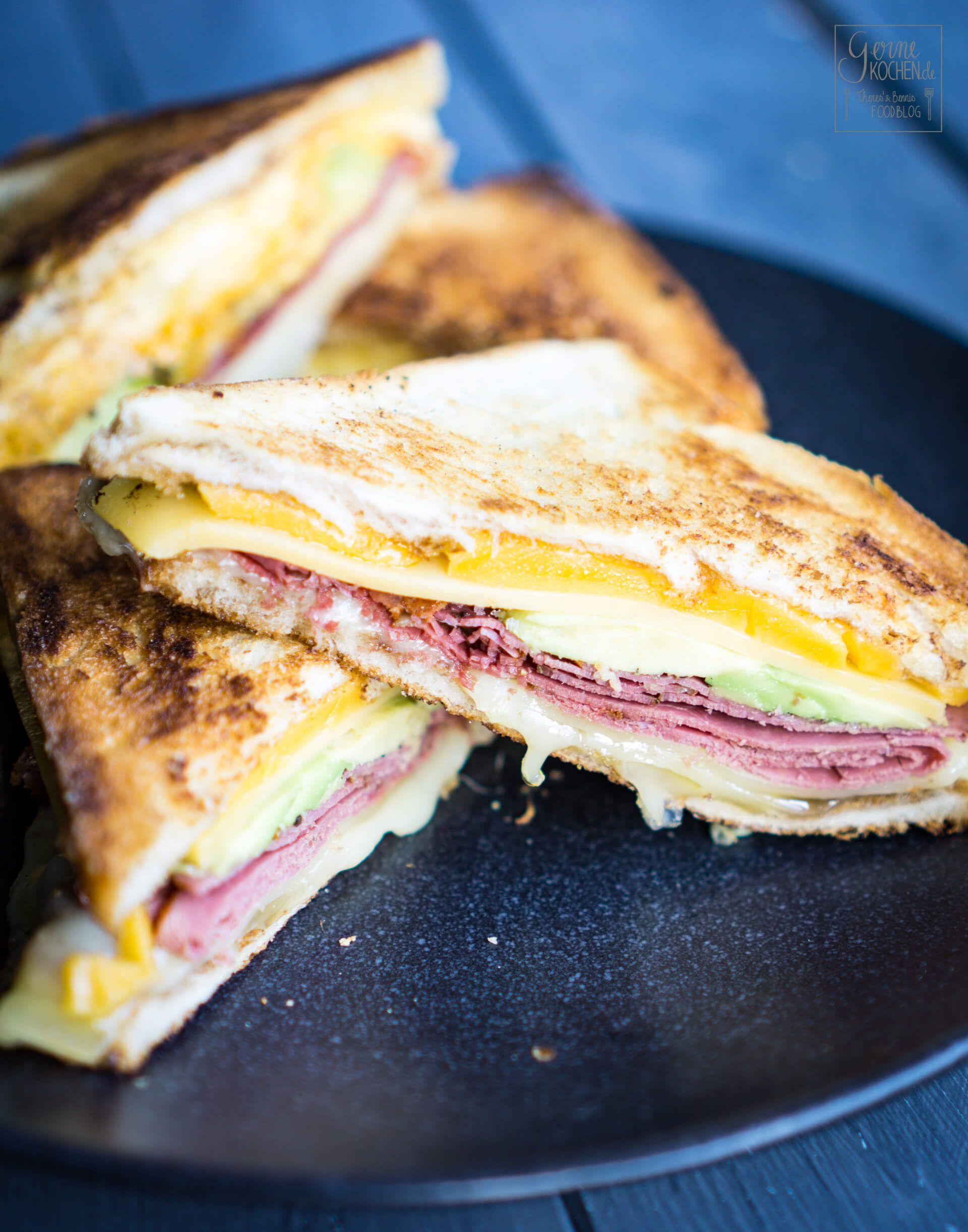 Photo of Recipe: Grilled Cheese Sandwich with Pastrami – gernekochen.de