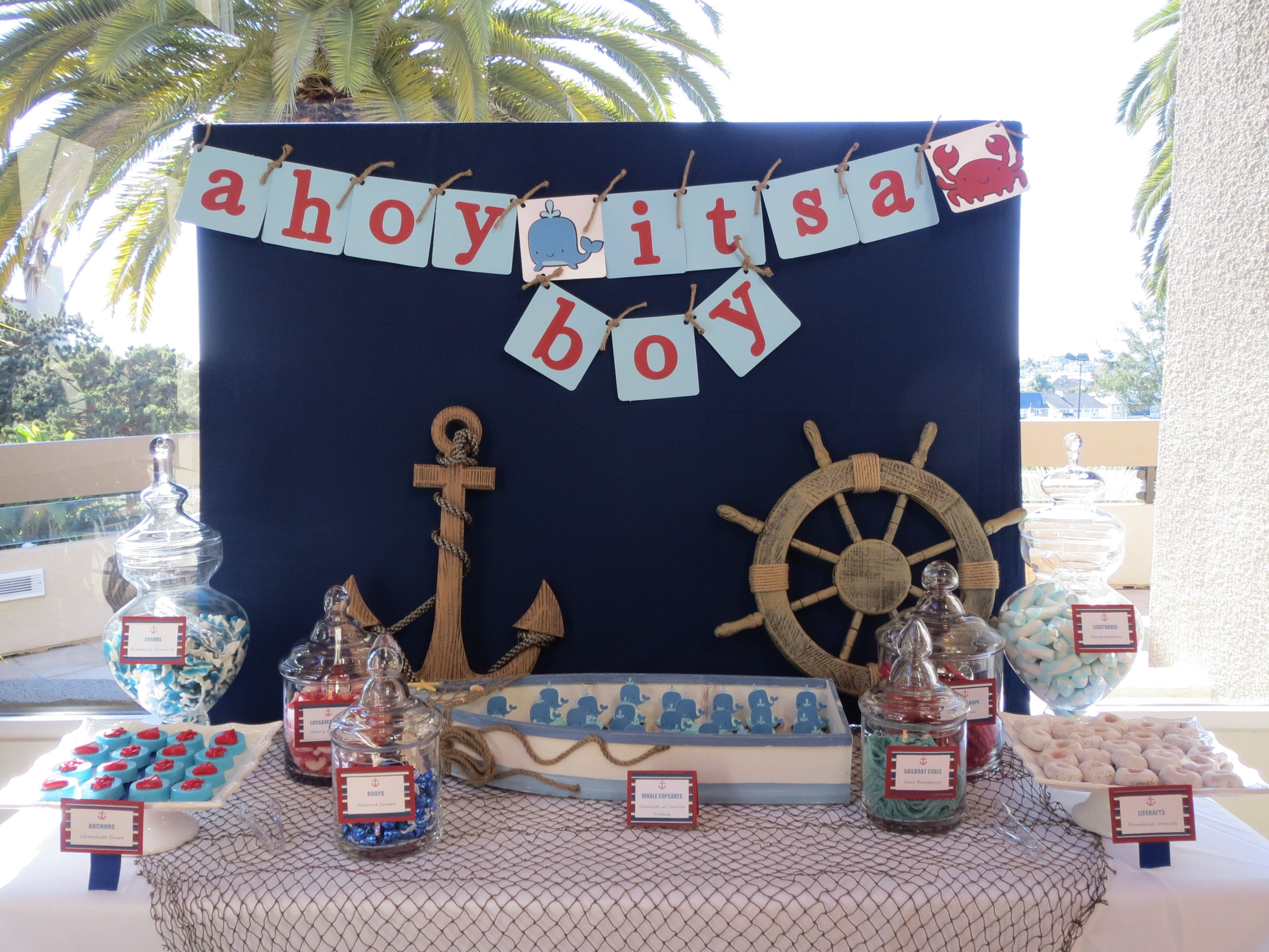 Nautical Themed Candy Table by OC Sugar Mama