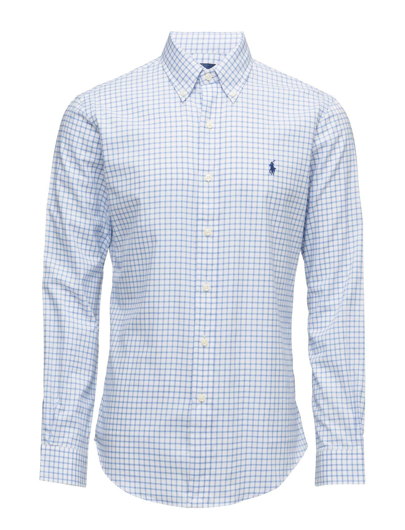 7db98d7233ee polo ralph lauren slim fit cotton twill shirt 1982c blue white men tops  shirts casual