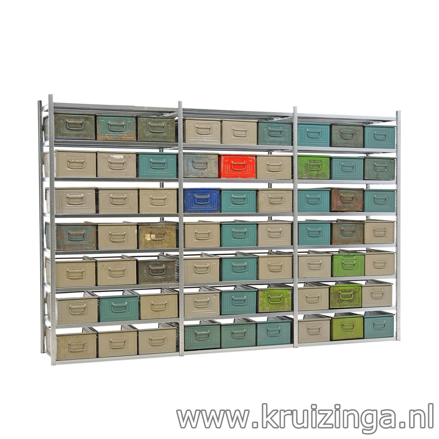 Industrial Design: Stelling + Schäfer Magazijnbakken staal ...