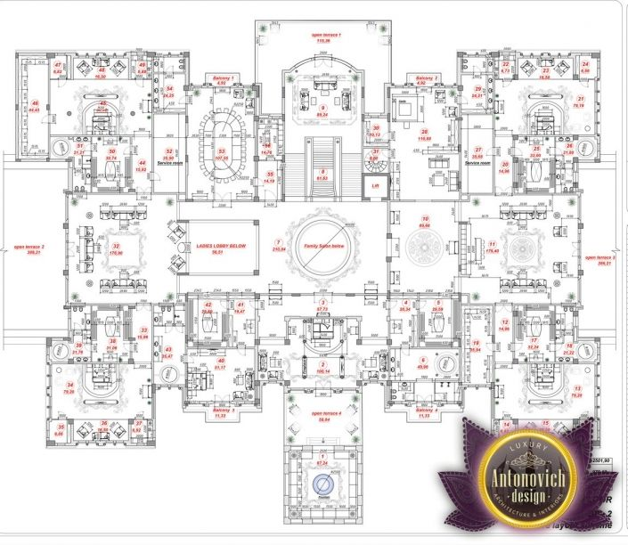 Luxury Homes Floor Plan Design: Luxury House Plan Sharjah 34 By Antonovich Designs