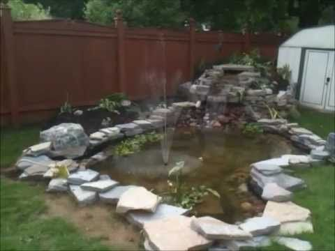 How to build a pond with waterfall cascade with fountain ...