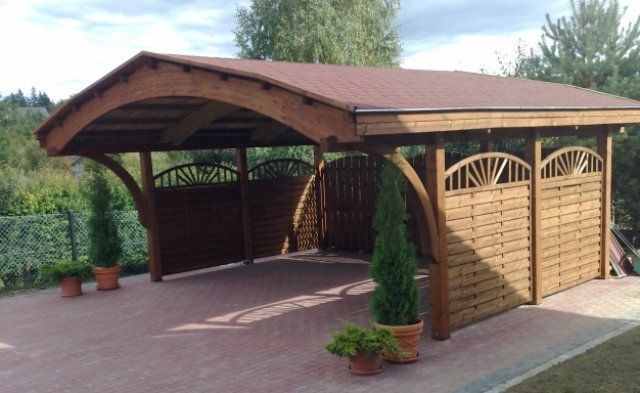 carport en bois. Black Bedroom Furniture Sets. Home Design Ideas
