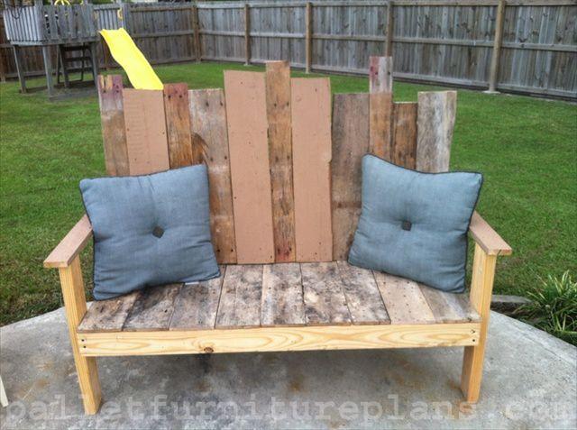15 diy outdoor pallet bench pallet furniture plans garden ideas