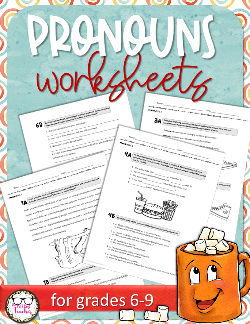 Pronouns Worksheets CCSS Aligned English teaching