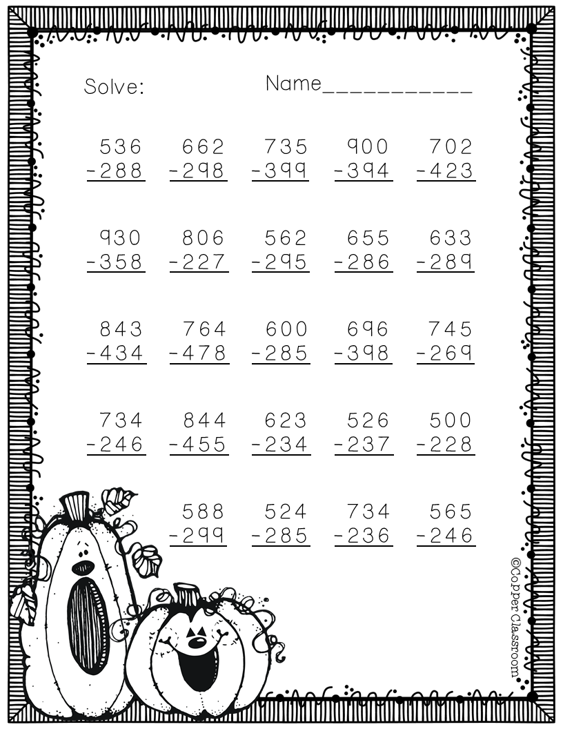 Three Pages Of Free Subtraction Practice Subtraction Practice Subtraction Math Resources [ 1056 x 816 Pixel ]