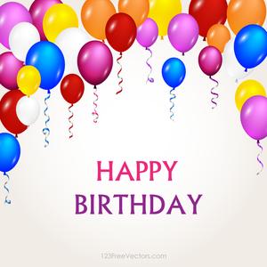 Publicdomainvectors Org Balon Warna Warni Untuk Pesta Ulang Tahun Ulang Tahun Balon Pesta Ulang Tahun
