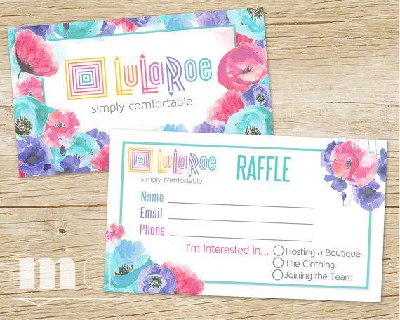 Lularoe Raffle Ticket Lularoe Raffle Business Card Floral Design Lularoe Marketing Lularoe Give Lularoe Business Cards Card Template Business Card Template