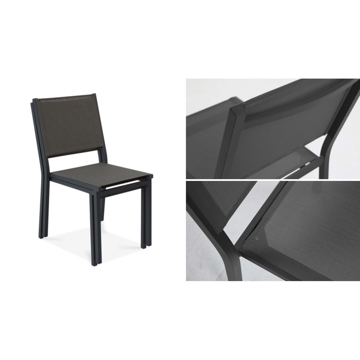 Chaise De Jardin En Aluminium Et Textilene Chaise De Jardin Salon De Jardin Aluminium Chaise