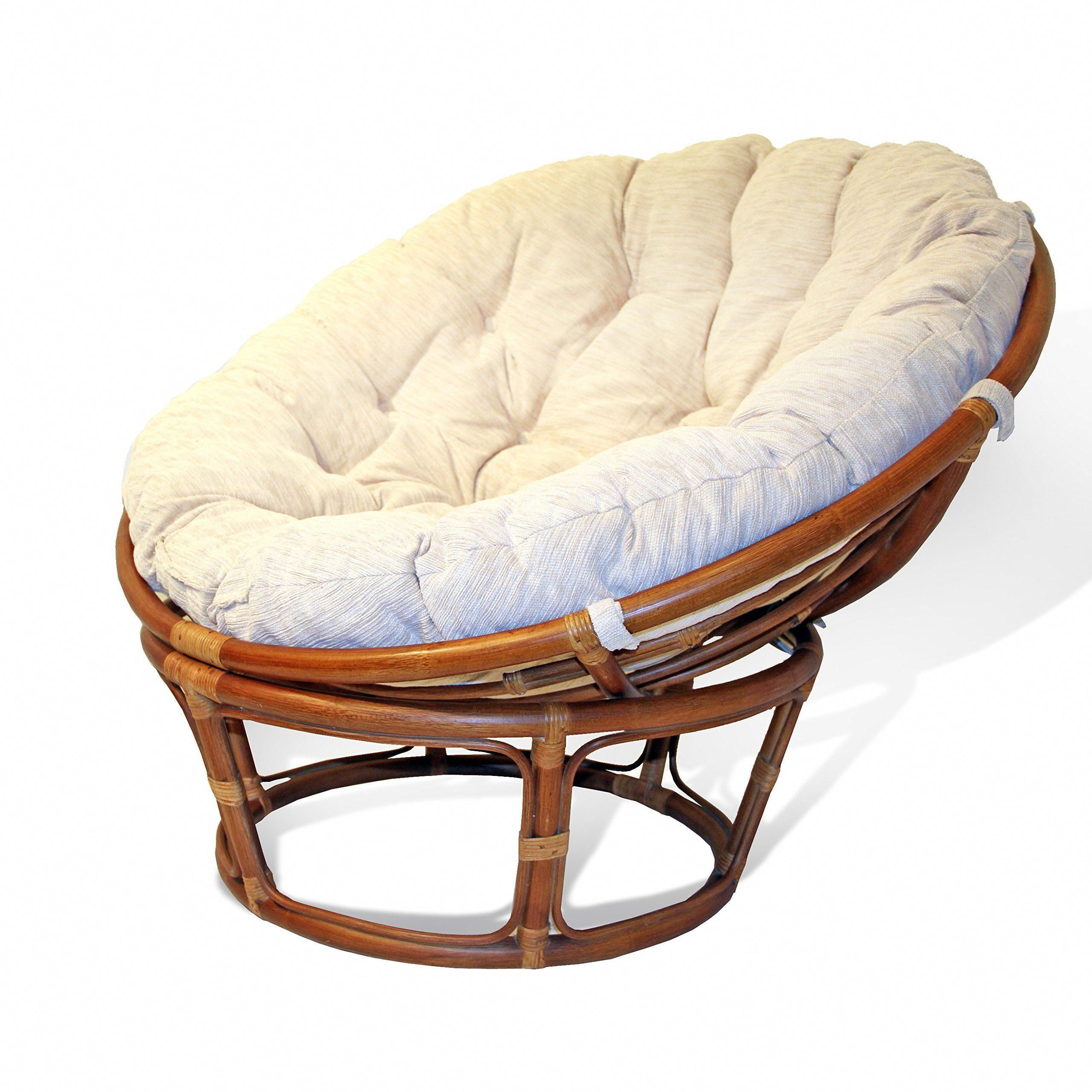 Papasan Sessel Alu Handmade Rattan Wicker Round Papasan Chair With Cushion Colonial