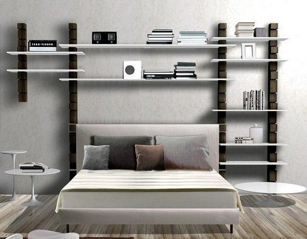 une t te de lit biblioth que pour s endormir avec une. Black Bedroom Furniture Sets. Home Design Ideas