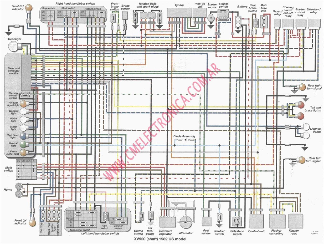 Virago 250 Wiring Diagram Cat 3 Cable Diagrams 15341278 Xv250 Yamaha Inside New