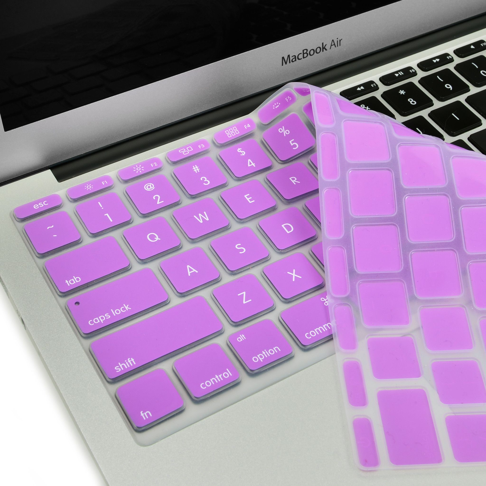 Light Purple Keyboard Silicone Cover Skin for Macbook Air
