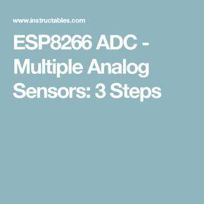 ESP8266 ADC - Multiple Analog Sensors | Arduino Stuff