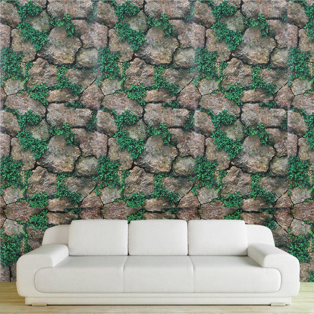 45x100 cm Clay paste Stone Wall Stickers PVC Waterproof Wallpaper ...