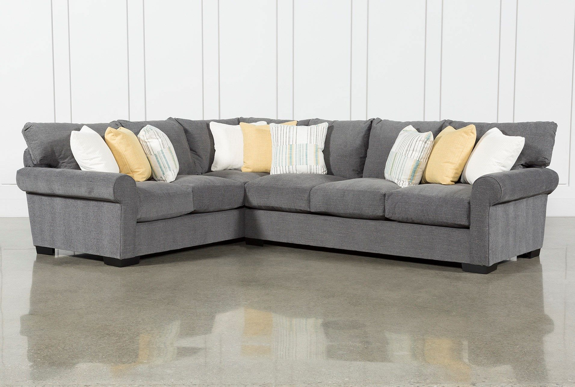 Aurora Ii 2 Piece Sectional With Right Arm Facing Sofa Grey Sectional Sofa Soft Seating Family Room Remodel