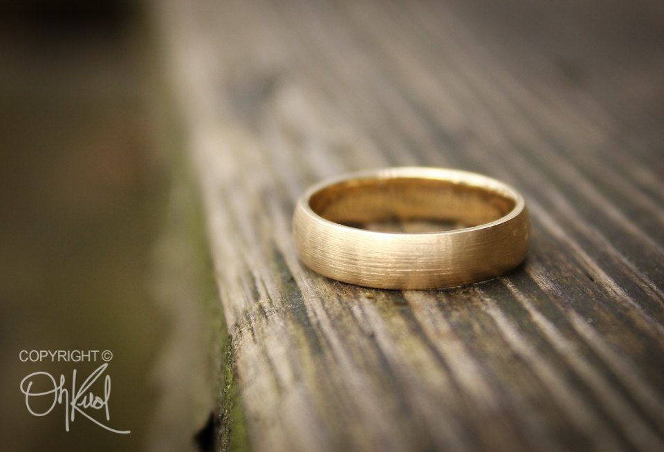 Gold Wedding Band Ring For Men Brushed Gold 10k Gold Engagements Rings For Men Wedding Ring Bands Gold Wedding Band
