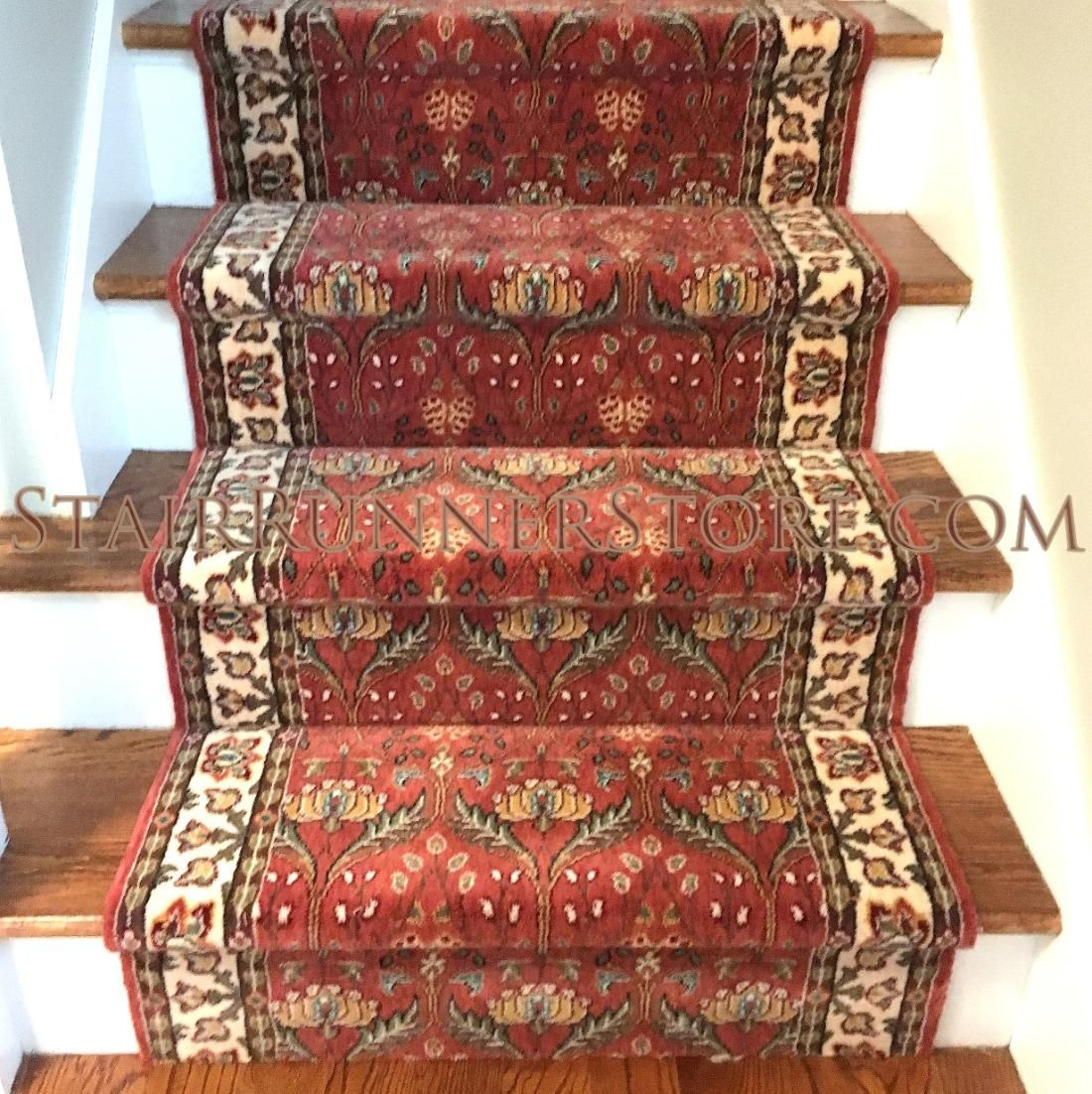 Persian Garden Stair Runner Installation By Stairrunnerstore 100