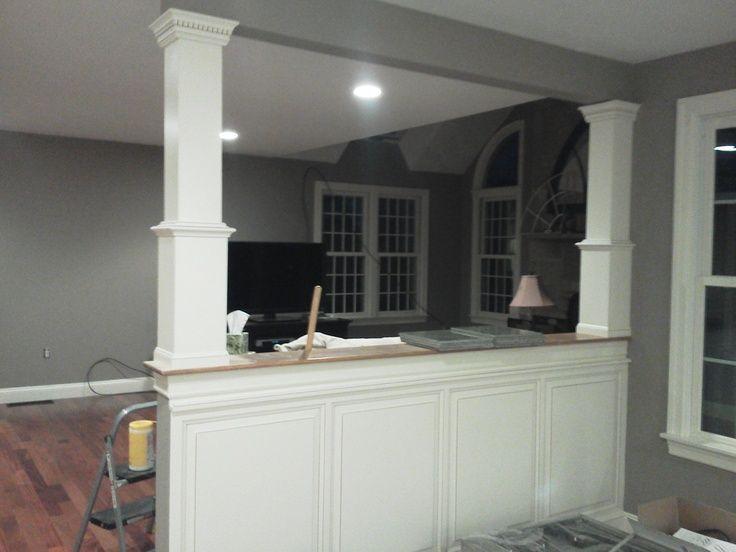 Half Wall Into Kitchen
