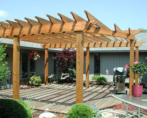 Wood Sun Trellis Shade Pergola