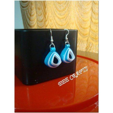 Quilled embossed  earrings -Jewellery-EEE Crafts Lseries