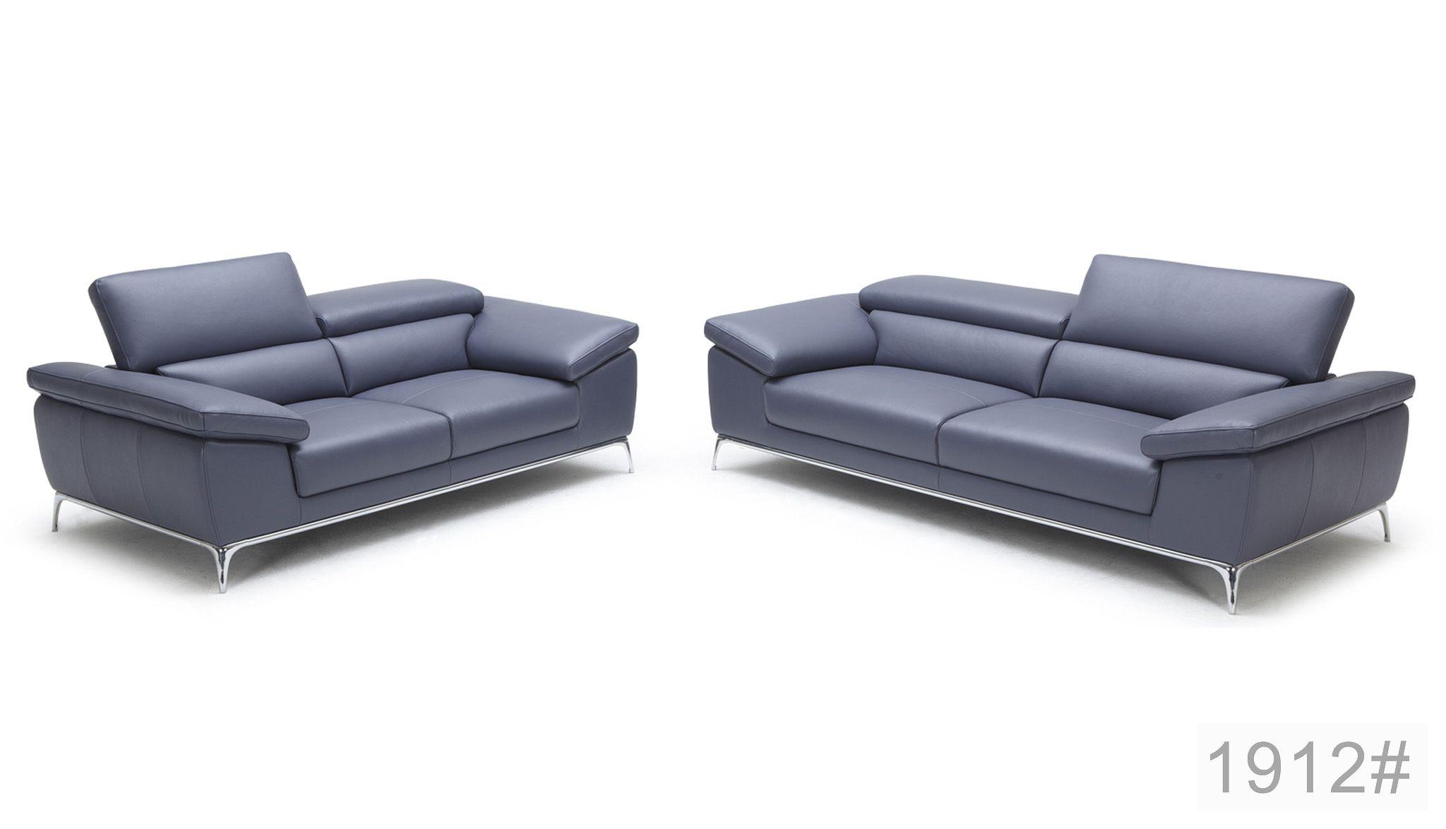 Italian Leather Sofa With Headrest Adjustable Leather Sofa Set Sofa Leather Sofa