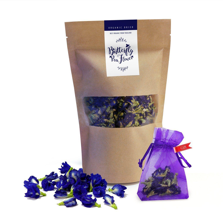Thai Delicious Butterfly Pea Organic Dried Blue Flower Tea