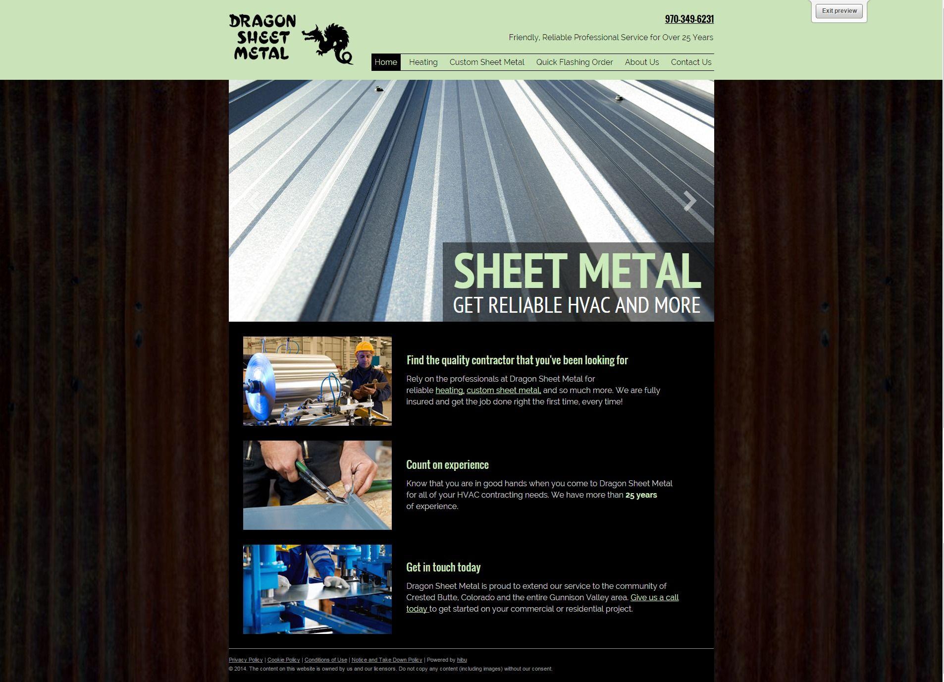 Sheet Metal Web Design Web Design Sheet Metal Design