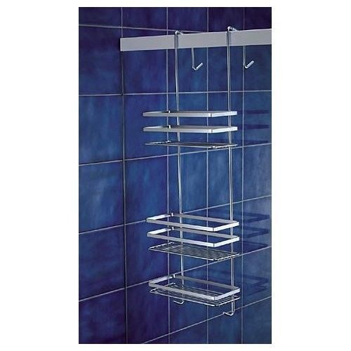 Hanging Shower Caddy Chrome Tidy Bath Storage 3 Shelves Hook Over ...