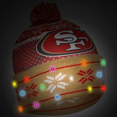 Officially Licensed NFL Light-Up Beanie by Forever Collectibles - 49ers 49dd3d8290d