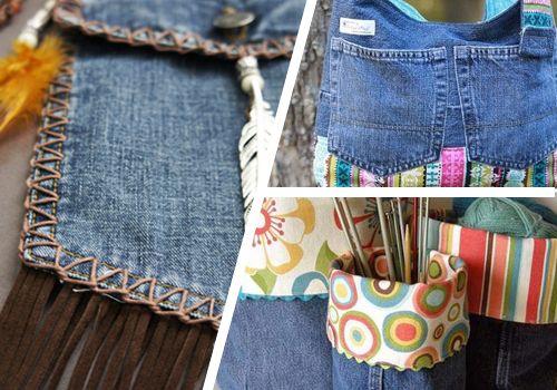 Notícias: 9 maneiras de reutilizar o seu jeans velho