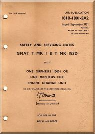 Folland Gnat Aircraft Safety Service Notes Manual  Aircraft