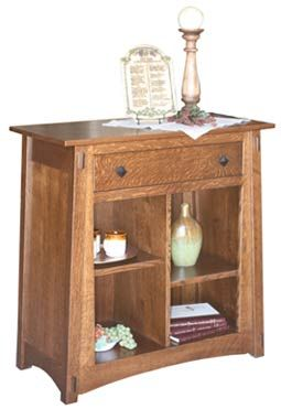 Amish Outlet Store : McCoy Server w/o Doors in Oak