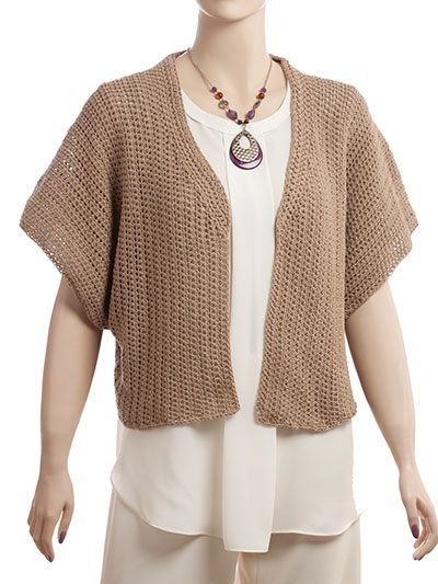 Crochet a Short Sleeve Hooded Sweater for Spring Pattern | Craft ...