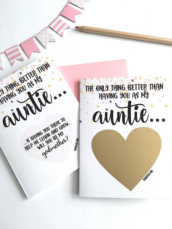 Godmother Proposal Scratch Off Card The Only Thing