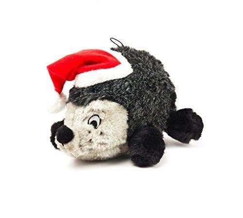 Outward Hound Kyjen 32110 Hedgehog Squeaking Plush Dog Toy Holiday
