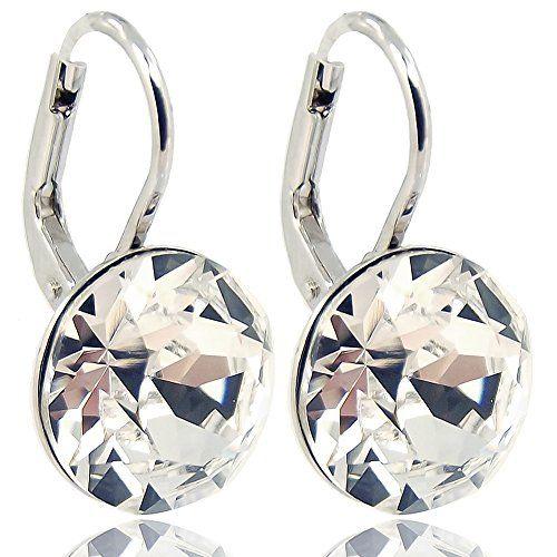 Ohrringe-mit-Kristallen-von-Swarovski-fr-Damen-Viele-Farben-Silber-NOBEL-SCHMUCK