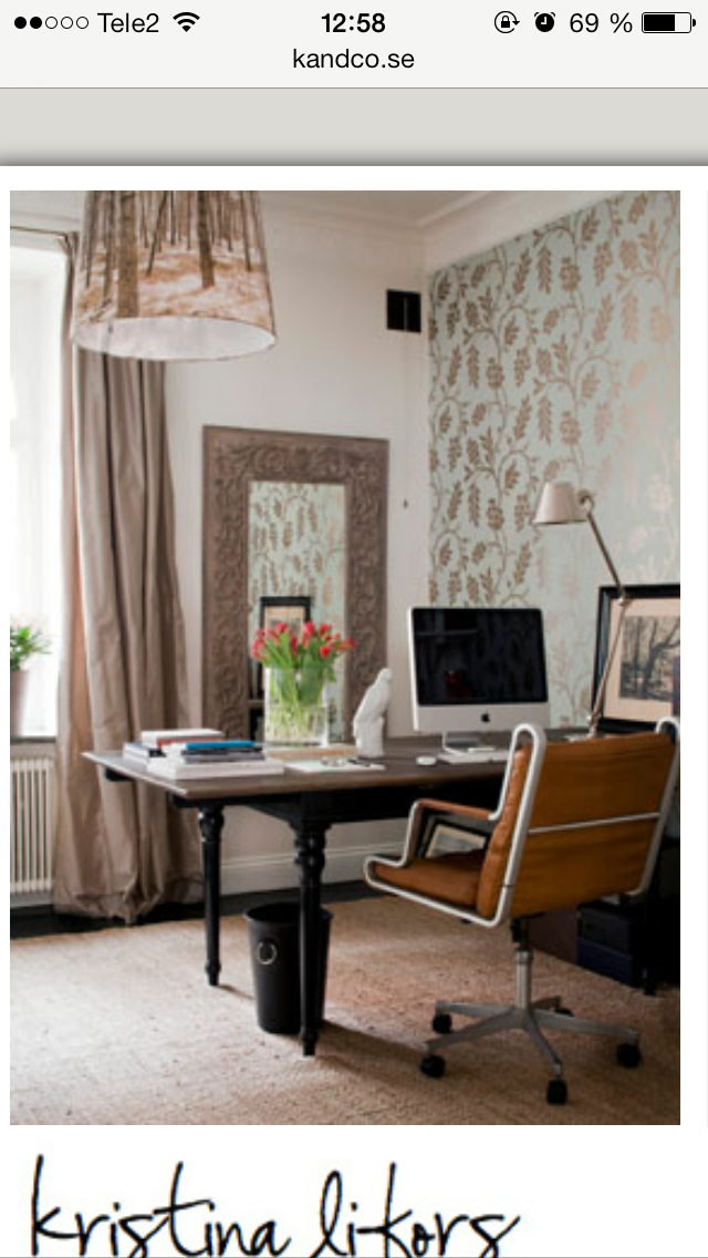 Home office (With images) Wallpaper accent wall, Office