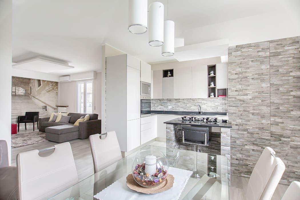 Ristrutturazione Appartamento Di 100 Mq A Bariano Bergamo Facile Ristrutturare Cucina Moderna Homify Ristrutturazione Appartamento Planimetrie Dell Appartamento Appartamento