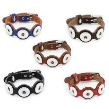 Bracelet en Cuir femme 3 Chunk Bijoux pour Bouton Pression Clic Chunks Noosa ee59c5d645d