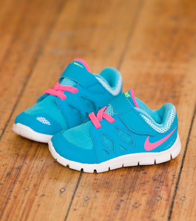 Nike Free 5 TDV Blue Lagoon/Pink, Kids Footwear, www.oishi-