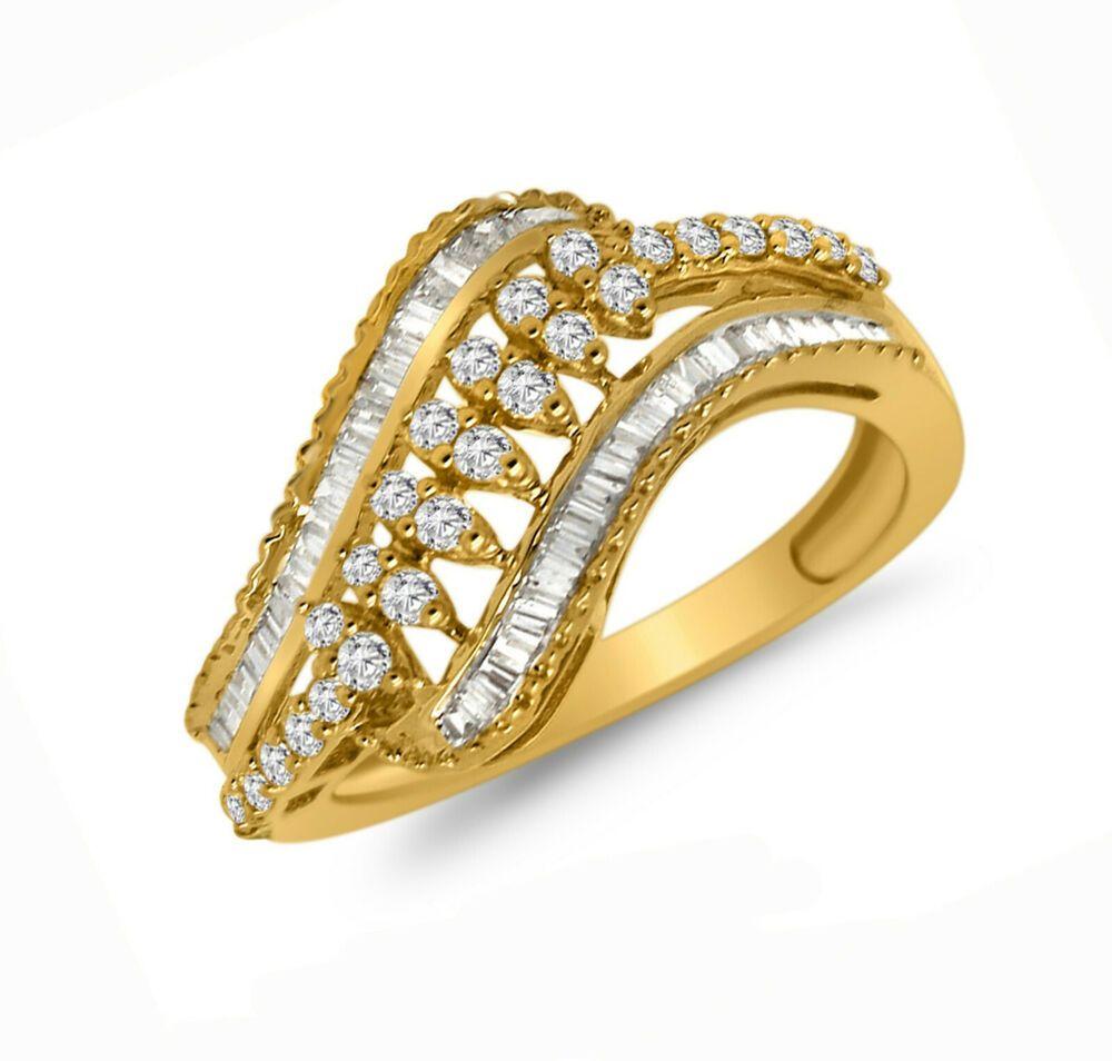 0.55Ct Round VVS1//D Diamond Beautiful Pinky Band Ring 14K Yellow Gold Over Men/'s