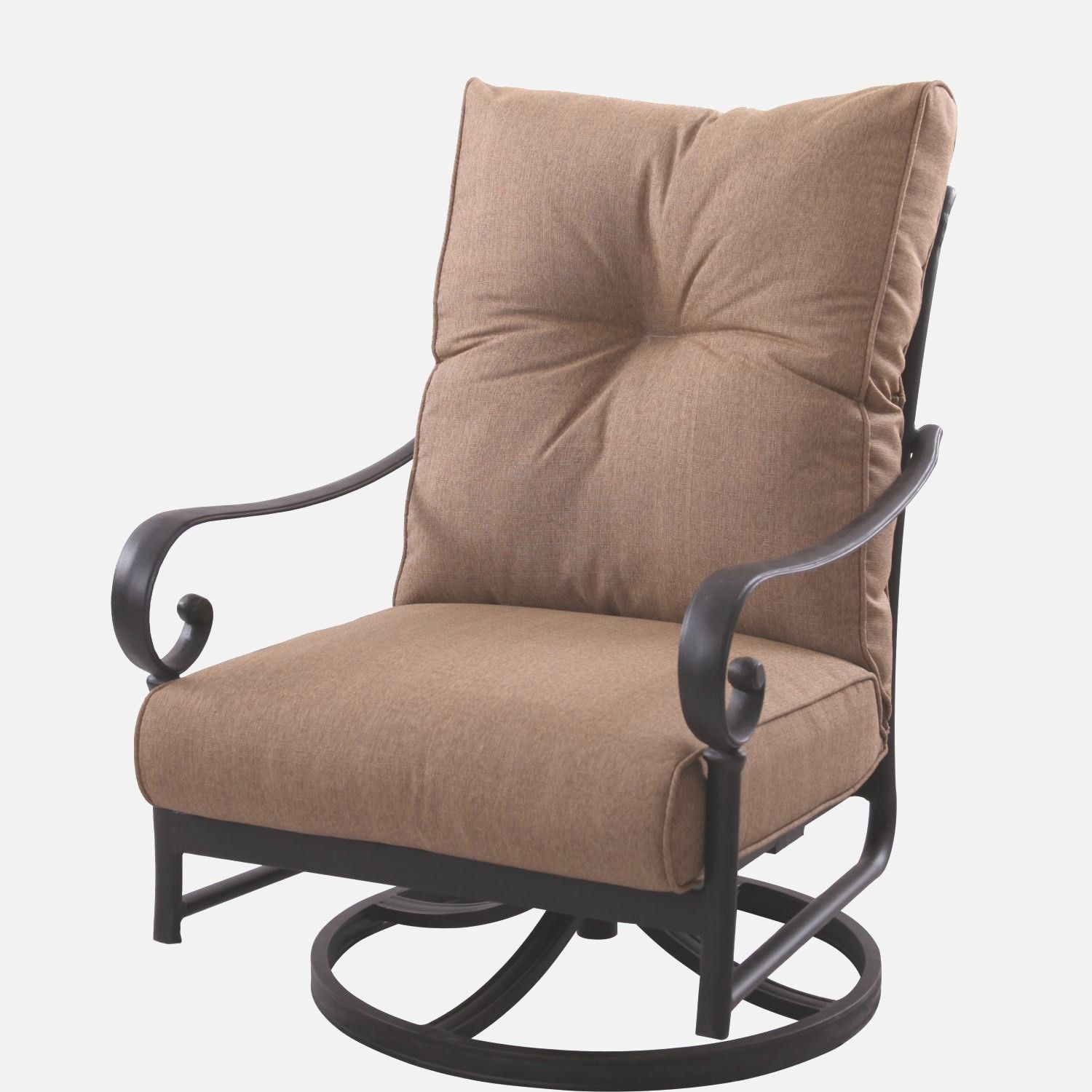 High Back Swivel Rocker Patio Chairs