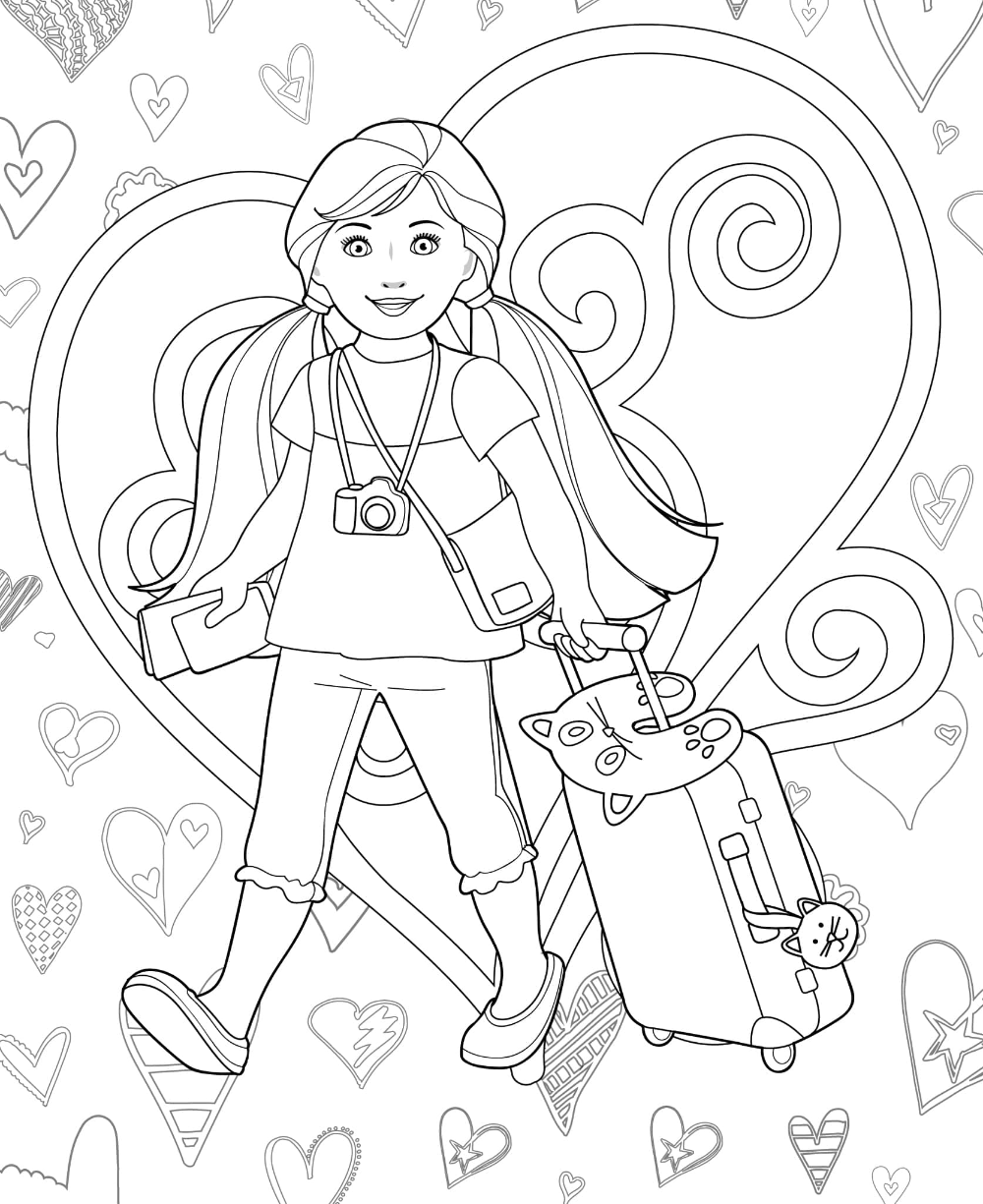 Printable Doll Coloring Pages Coloring Books Coloring Pages Our Generation Dolls