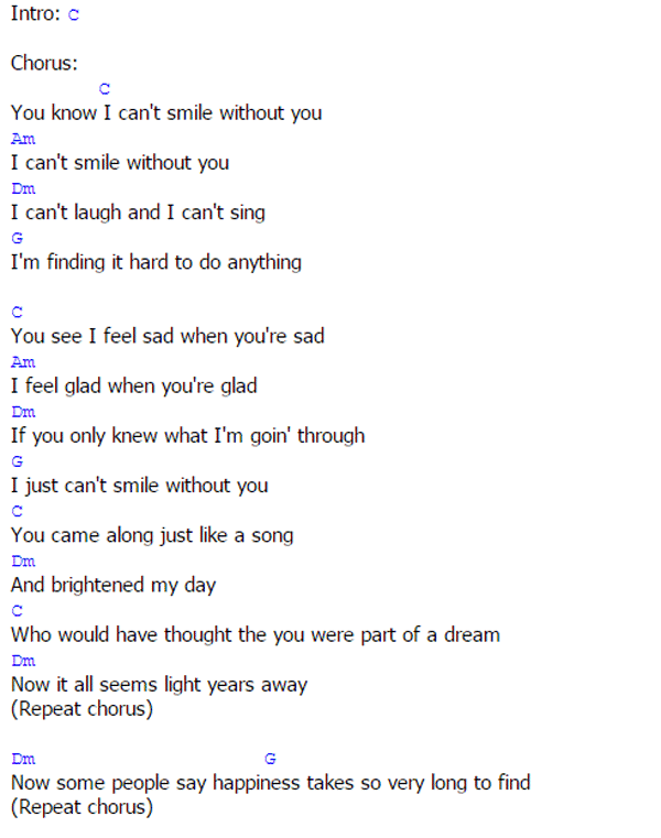 I cant do without you song