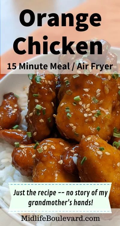 15 Minute Air Fryer Orange Chicken - Midlife Boulevard