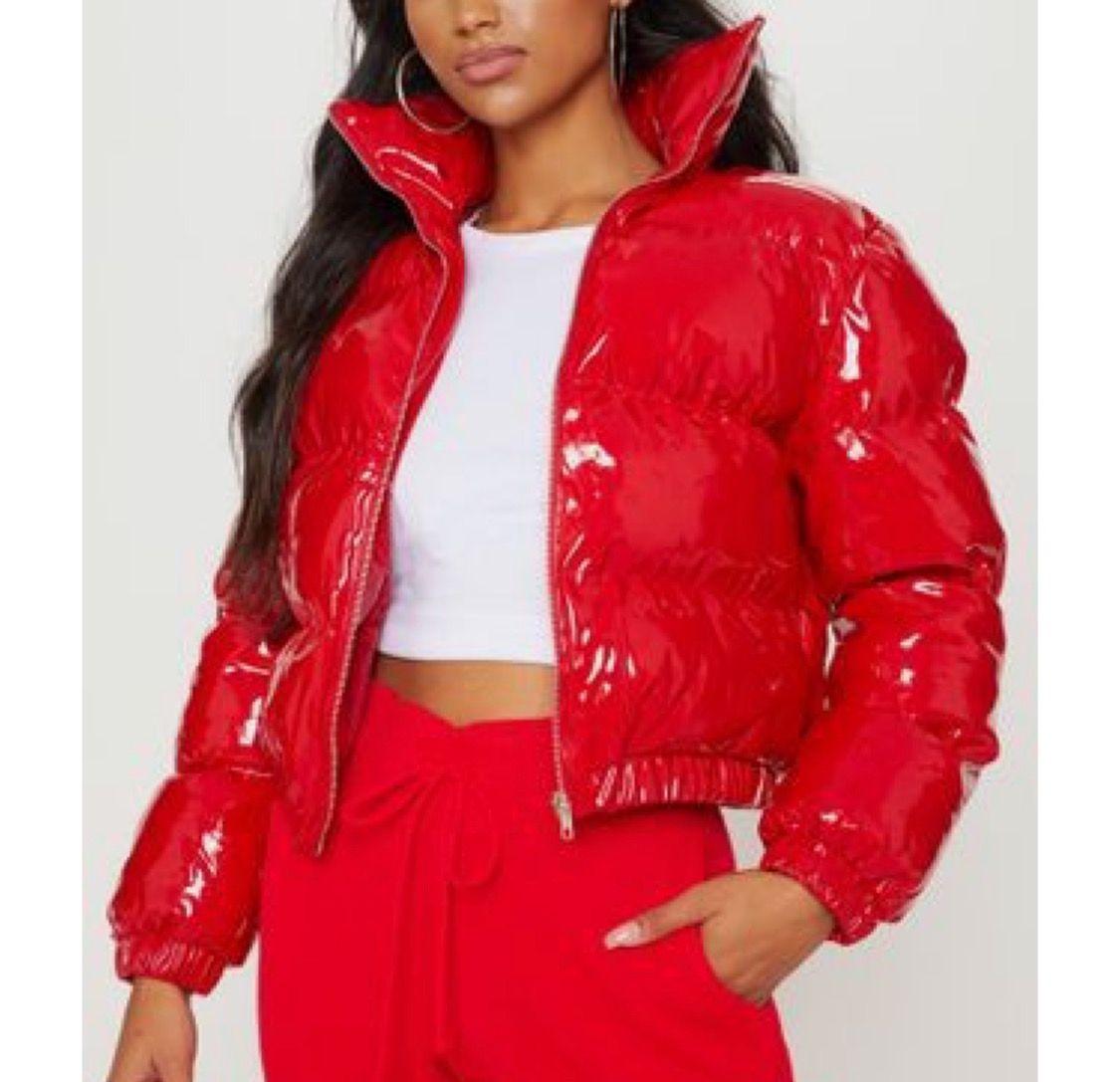 Tina Snow Cropped Puffer Jacket Beaufity Bubble Coat Fashion Winter Coats Women [ 1087 x 1125 Pixel ]