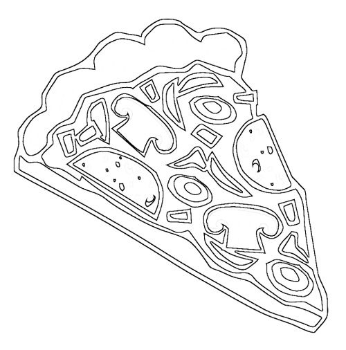 slice pizza coloring page - Pizza Coloring Pages