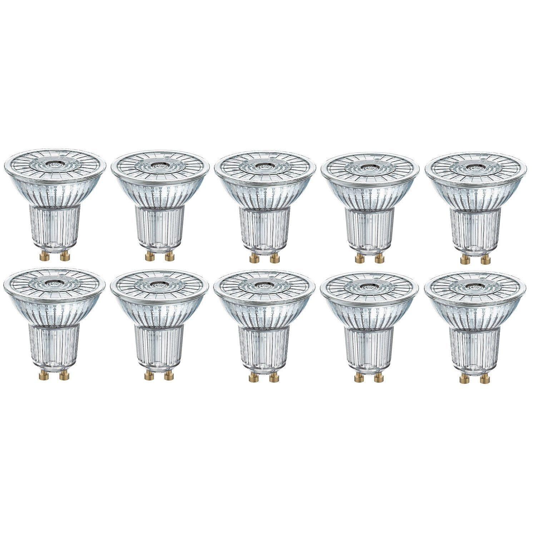 Ampoules Led Gu10 Pour Spot 3 5w 350lm Equiv 50w 2700k 36 Osram Lot De 10 Led Spots Et Led 12v