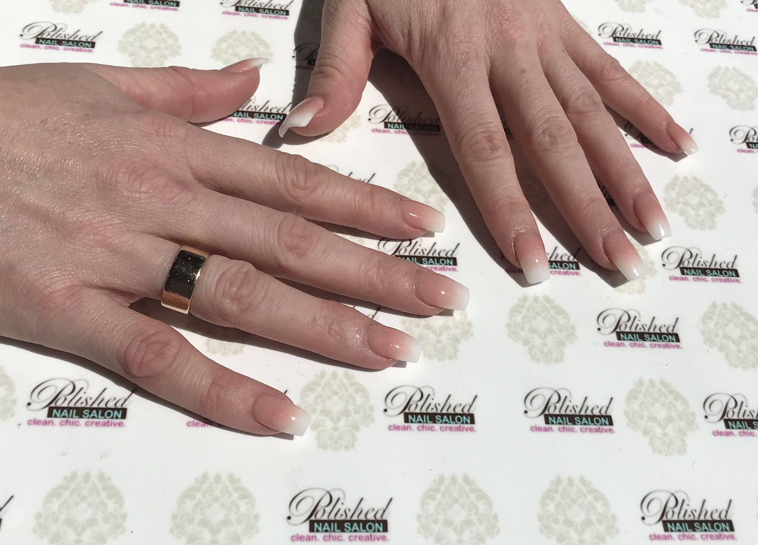 Pink and white ombré is the new Classic. #TresChic #ombreNails ...